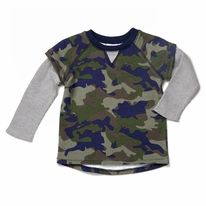 Thermal French Terry Shirt | Egg by Susan Lazar 2014 Fall/Winter Collection | http://www.egg-baby.com/thermal-french-terry-shirt-w4fe1023-camo.html
