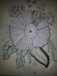 My zentangle flower
