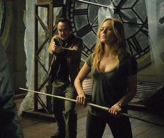 Quentin Lance (Paul Blackthorne) and Sara Lance/Black Canary (Caity Lotz) on Arrow Season 2, Episode 5 - League of Assassins