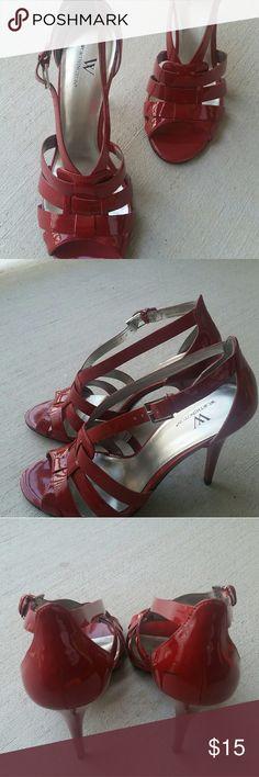 Shoes Sandals  3.5 inch heel  Buckle closure  NWOT Worthington Shoes Heels