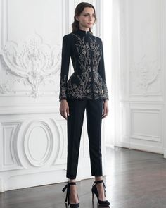 See the entire Paolo Sebastian haute couture autumn/winter collection. Look Fashion, High Fashion, Fashion Show, Fashion Outfits, Womens Fashion, Fashion Design, Dress Fashion, Fashion Trends, Paolo Sebastian