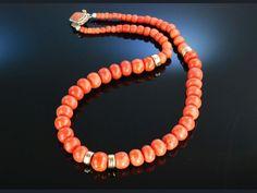 Fabulous coral necklace! Fantastische Korallen Kette Sardegna 42,5 Gramm, Neapel um 1850!