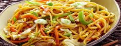 Easy to make Vegetable Noodles Veg noodles with step by step photos - easy recipe of veg noodles. This a homely of an Indo Chinese veg no. Noodle Recipes, Rice Recipes, Vegetable Recipes, Vegetarian Recipes, Healthy Recipes, Vegetable Ideas, Jain Recipes, Indian Food Recipes, Hakka Noodles Recipe
