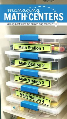 Simple ideas for organizing and differentiating math centers! Perfect for math workshop and guided math.