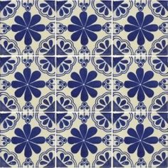 Talavera Mexican Tile - Classics Handmade tiles can be colour coordinated and customized re. shape, texture, pattern, etc. by ceramic design studios