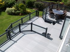 Extend your home into the garden and step out onto and traditional or contemporary styled luxury Fensys deck. Plastic Fencing, Decking Suppliers, Caravan Holiday, Deck Steps, Led Manufacturers, Decorating On A Budget, Garden Bridge, Gate, Outdoor Living
