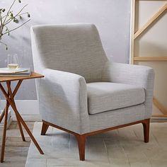 Option For Formal Living Or Room Nook Sloan Upholstered Chair Solids