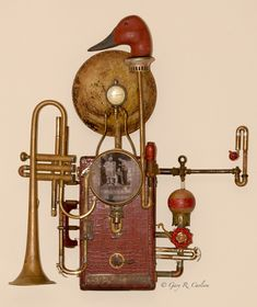 One Hundred Years from Someone,Gary Carlson, $1900, Found object assemblage sculpture