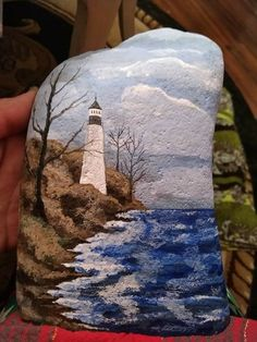 Painting on rock or sea glass