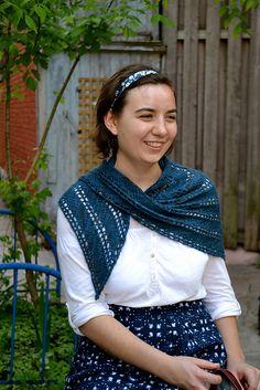 Ravelry: Diagonal Lace Shawl pattern by Debbie Sullivan