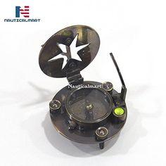 Antiquated Vintage Ross London Push Button Sundial Pocket Compass SC 035