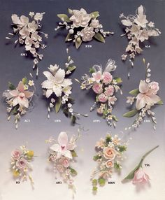 GUMPASTE FLOWERS, Wedding Cakes by Dawna, LLC