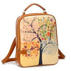 2014 new korean printing backpack women backpack school bag for girls backpacks leather bags molle tactical mochilas backpack-in Backpacks f...