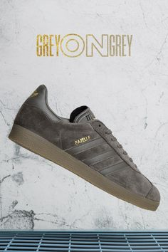 newest b5171 47f0f adidas Originals Gazelle  Utility Grey Striped Shoes, Adidas Gazelle, Adidas  Originals, Trainers
