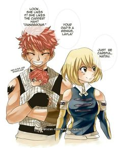 So I love this because NaLu but also that is some incredibly accurate baby wearing.