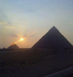 Pyramids Of Giza, Celestial, Mountains, Sunset, Nature, Travel, Outdoor, Outdoors, Naturaleza