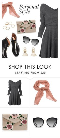 Personal style by dressedbyrose on Polyvore featuring Violeta by Mango, Salvatore Ferragamo, Dolce&Gabbana, StreetStyle, ootd and polyvoreeditorial
