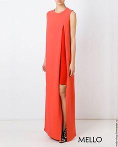 Купить Красное вечернее платье в пол платье летнее платье длинное - вечернее летнее платье