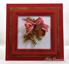 Winter Florals Pine and Pinecones and Blog Candy Winner - KittieKraft