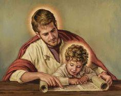St Joseph Prayer, St Joseph Catholic, Catholic Art, Catholic Saints, Religious Art, Saint Joseph, St Joseph Pictures, Baby Jesus Pictures, Christian Paintings