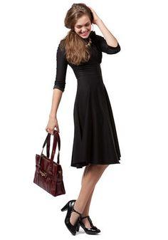 169.99 motion picture siren dress...basic black and tznius