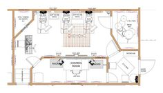 Layout for our music recording studio. Article addresses floor, wall, ceiling sound proofing and acoustical treatments.