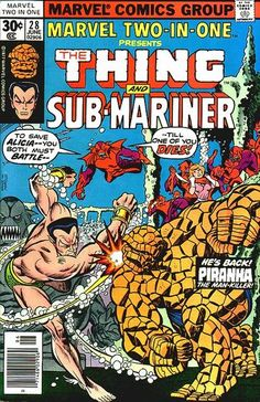 marvel two in one covers | Marvel Two-In-One Vol 1 28 - Marvel Comics Database