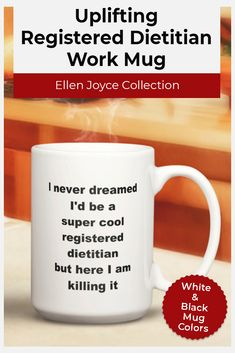 Want to get business gifts? This Registered Dietitian mug makes the perfect gift for your coworker, friend, or job-loving family member. Standard colors for our ceramic mugs are white and black. They're microwave Personalized Office Gifts, Personalized Wine Glasses, Personalized Tumblers, Personalized Water Bottles, Mother Birthday Gifts, Birthday Gifts For Husband, Gifts For Mom, Job Memes, Gifts For Colleagues