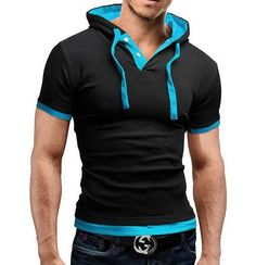 T Shirt Men Brand 2016 Fashion Men'S Hooded Collar Sling Tops & Tees T Shirt Men Short Sleeve Slim Male Tops  Large Size 4XL-in T-Shirts from Men's Clothing & Accessories on Aliexpress.com   Alibaba Group