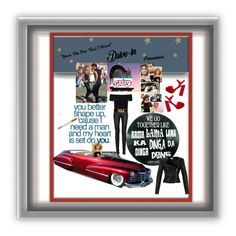 """""""DRIVE-IN MOVIE DATE"""" by onesweetthing on Polyvore featuring art"""