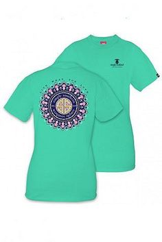 """Simply Southern aruba green tee with pink pineapples and the saying """"Live what you love."""""""