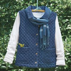 Denim Quilted Vest - Casual Women's Clothing and Fashion Accessories – Exclusive Styles in Misses and Womens Plus Sizes | Serengeti