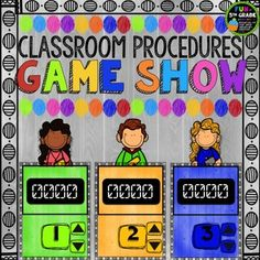 Classroom Procedures can be fun to review when you use Classroom Procedures Game Show!  Put students in up to 6 groups to play this Jeopardy style game! Classroom procedure talk can be dull and kids just don't listen.  But if you tell them that afterwards you will play a FUN review game to test their new knowledge, they will make sure to be listening to your every word. Classroom Procedures, Classroom Games, Classroom Management, Class Management, Classroom Ideas, Behavior Management, Classroom Resources, Kindergarten Classroom, Numerical Expression
