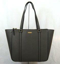 Kate Spade Briar Newbury Lane Gray Saffiano Leather Tote Shoulder Handbag NWT