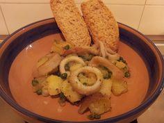 Anelli di Totano con Patate e Piselli | Paprika Dolce e Cannella
