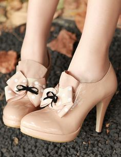 Nude Bow Booties