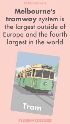 A fun little fact for your Wednesday. Melbourne's tramway system is the largest outside of Europe and the fourth largest in the world! Australia Fun Facts, Australia Funny, Australia Trip, Camp Counselor, Wow Facts, Kids Around The World, Did You Know Facts, Facts For Kids, Animal Facts