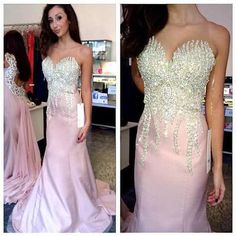 Charming Prom Dress,Mermaid Prom Dress, Beading Prom Dress,Sweetheart Evening…
