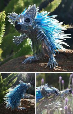 Artist Turns Old CDs Into Stunning Animal Sculptures Instead Of Throwing Them Away – Steampunk Tendencies Animal Sculptures, Sculpture Art, Art Cd, Waste Art, Old Cds, Trash Art, Plastic Art, Plastic Bottles, Recycled Art