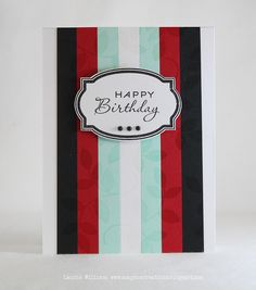 more masculine card ideas #PaperTrey #stripes #label