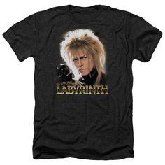 Unisex Labyrinth David Bowie Jareth Heathered T-Shirt