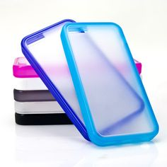 iPhone 5C Clear Hard Shell Case...iPhone 5C clear hard shell case with colored sides. Very slim and sleek case that provides the phone with protection. UPC & product labeling service available for additional fees.