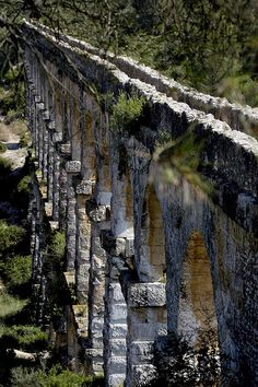 Tarragona's ancient roman aqueduct, Spain-- I've seen the one in Segovia... I want to see this one!