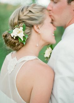 Brides: Wedding Hair Ideas: Fresh Twists on the Classic Bridal Bun