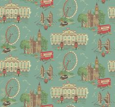 London print | Cath Kidston - stumbled into this store in London and stayed for 2 hours, bought a bag with this print!  LOVE IT!