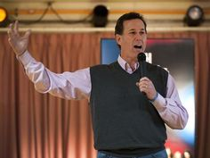 """From USA Today: """"This was destined to be: Donors to Rick Santorum's presidential campaign can get a gray sweater vest for a contribution of $100 or more."""""""