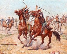 Even Chances (Oil on Canvas), by Charles Schreyvogel Native American Models, Native American Paintings, American Indian Wars, American Indians, Military Art, Military History, Cherokee, Sioux, Battle Of Little Bighorn