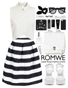 """""""Romwe"""" by fragmentoftheuniverse ❤ liked on Polyvore featuring Miss Selfridge, Nly Shoes, Proenza Schouler, Byredo, CLEAN, Topshop, Witchery, NARS Cosmetics, Lancôme and Gorgeous Cosmetics"""