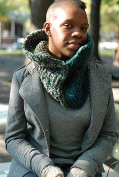 cute girl in a cute scarf