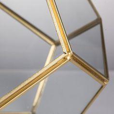 Amazon.com: Brass Glass Pentagon Regular Dodecahedron Geometric Terrarium Container Desktop Planter for Succulent Fern Moss Air Plants Holder Miniature Outdoor Fairy Garden Gift: Garden & Outdoor